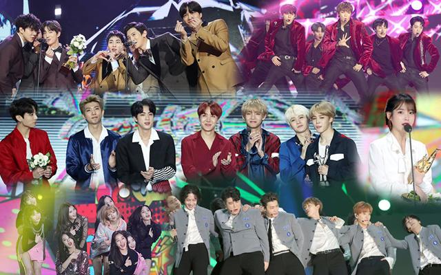 ゴールデンディスクアワー,EXO,Wanna One,TWICE,BTS,SUPER JUNIOR,IU